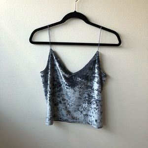 Crushed Velvet H&M Crop Top (NEW W/ TAGS)